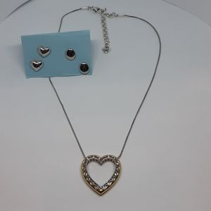 Brighton Signed Necklace and Earrings